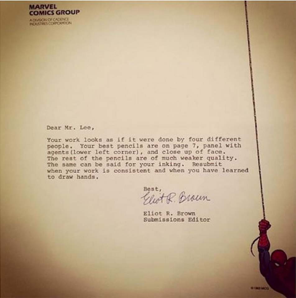 10 Painful Rejection Letters To Famous People Proving You